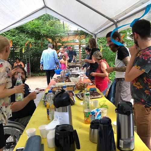 Sommerfest im Garten Chausseestraße 48